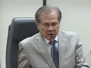 Presidente da Câmara, Cícero Gomes, em sessão nesta quinta-feira (22) (Foto: Reprodução/TV Câmara)