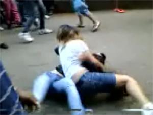Estudantes se envolvem em briga em São João da Boa Vista (Foto: Reprodução/EPTV)