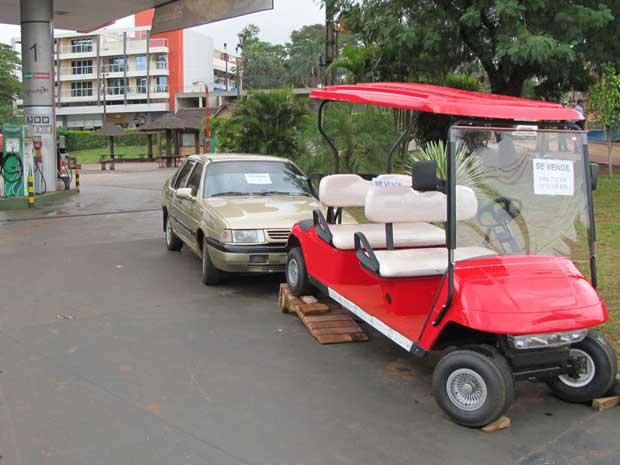 À venda, carrinho de golfe custa mais que o Santana (Foto: Gabriela Gasparin/G1)