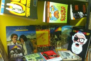Coleção de livros do museu de Chico Anysio (Foto: Gabriela Alves/G1)