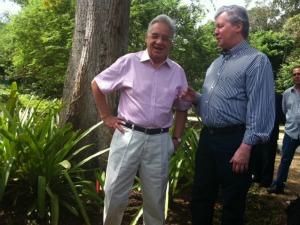 Ex-presidente da República participa de evento ambiental em Manaus (Foto: Carlos Eduardo Matos/G1)