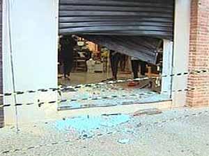 Gangue da marcha ré invade loja de Sertãozinho (Foto: Reprodução EPTV)