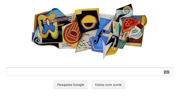 Google muda seu logotipo para homenagear o aniversário de 125 anos do pintor cubista Juan Gris (Foto: Reprodução)