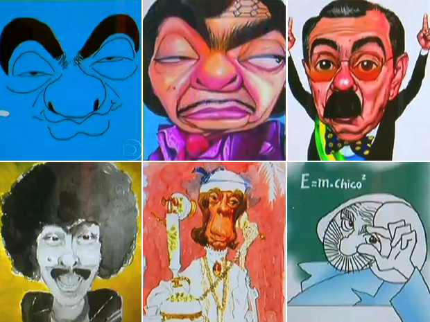 risadaria chico cartunistas (Foto: Reprodução/TV Globo)