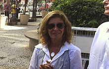 Marilia Pêra no velório de Chico Anysio (220 x 140) (Foto: José Raphael Bêrredo/G1)