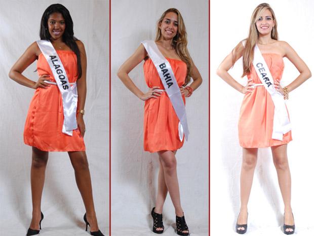 Elizabeth Souza (Alagoas), Deiziane Mota (Bahia) e Bruna Barroso (Ceará). CRÉDITO: Julio Caesar / Miss Surda Brasil (Foto: Julio Caesar / Miss Surda Brasil)