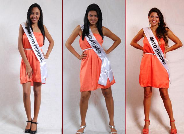 Karen Marques (Distrito Fedral), Camilla Passos (Maranhão) e Reany Oliveira (Mato Grosso) (Foto: Julio Caesar / Miss Surda Brasil)