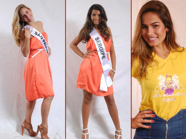 Amanda Moltner (São Paulo), Barbara Maia (Sergipe) e Vanessa Vidal (organizadora). (Foto: Julio Caesar / Miss Surda Brasil)