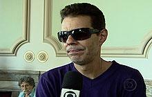 Nizzo Neto fala no velório de seu pai, Chico Anysio (Foto: Reprodução/TV Globo)