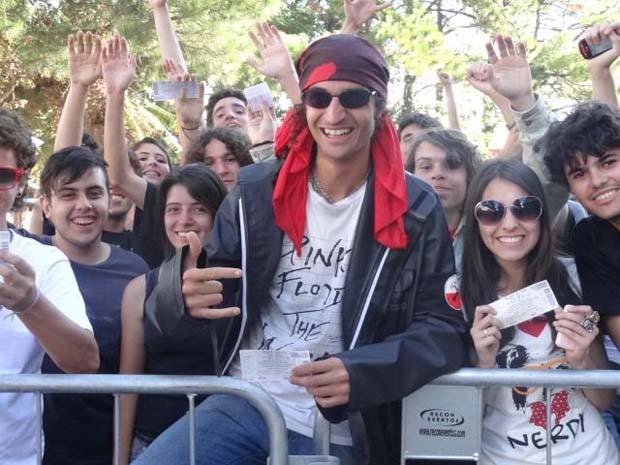 Marcio Fraga na fila do show Roger Waters (Foto: Luiza Carneiro/G1)
