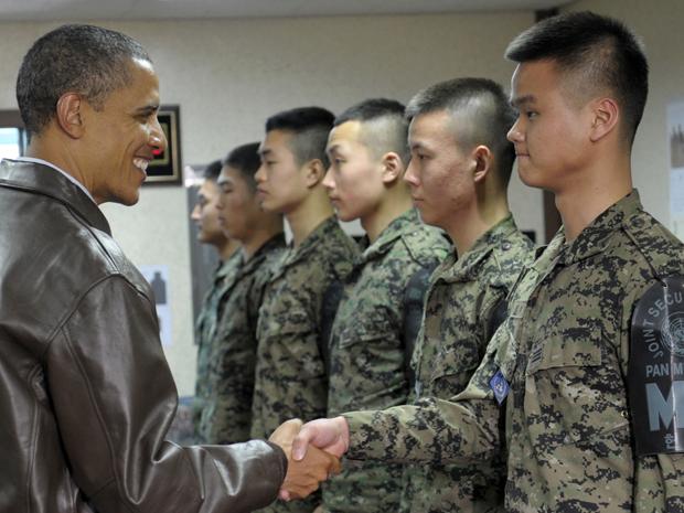 Obama visita fronteira desmilitarizada na Coreia do Sul (Foto: AP)