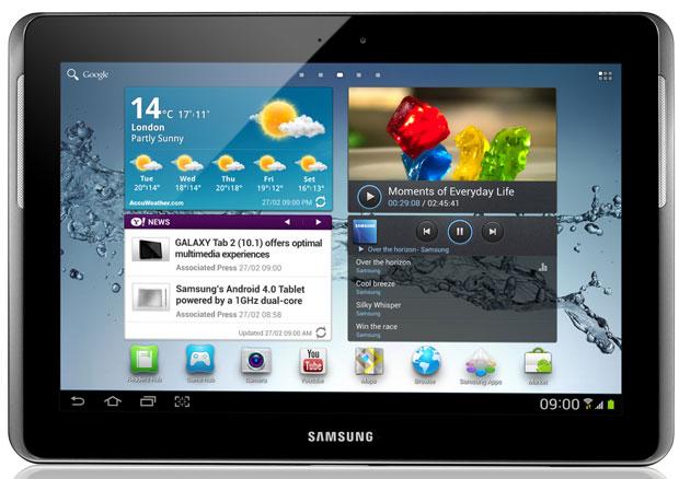 Galaxy Tab 2, com tela de 10,1 polegadas. (Foto: Divulgação)
