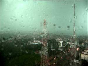Chuva em Campinas (Foto: Reprodução EPTV)