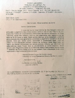 patrícia acioli pedido de segurança (Foto: Alexandre Durão/G1)
