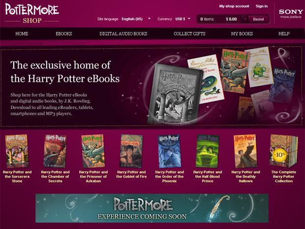 Site Pottermore disponibilizou os sete livros da saga 'Harry Potter' no formato e-book (Foto: Reprodução)
