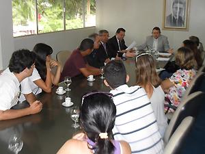 Quatro vereadores receberam grupo de defensores dos animais (Foto: Plínio Almeida/TV Paraíba)