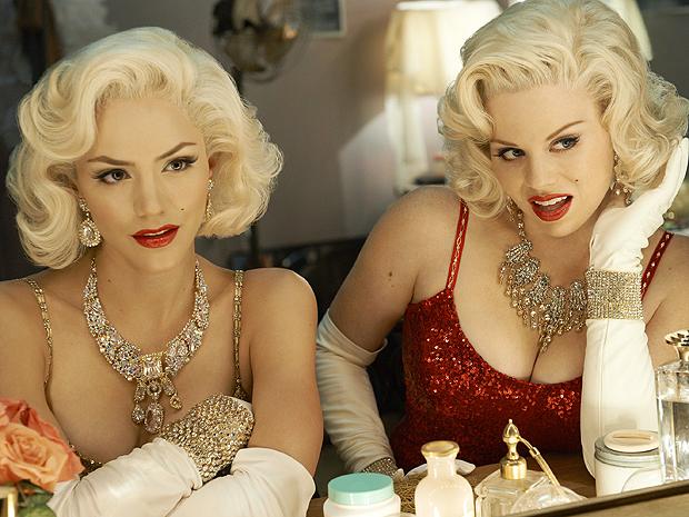 Katherine McPhee e Megan Hilty vivem aspirantes ao papel de Marylin Monroe em 'Smash' (Foto: Divulgação)