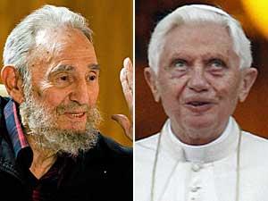 Fidel Castro e Papa Bento XVI (Foto: Reuters)