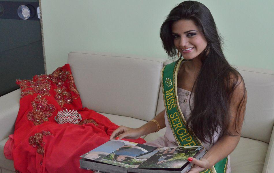 Após retomar o trabalho como modelo Evlen Yasmin conquistou o Miss Sergipe 2012