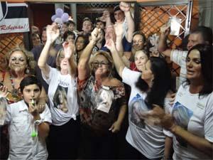 Família se reúne em Ribeirão Preto para torcer por Fabiana, finalista do BBB 12 (Foto: Adriano Oliveira/ G1)