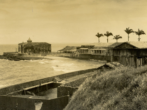 Vista da Ponta do Humaitá, na cidade baixa, em foto antiga. (Foto: Arquivo Municipal/Fundação Gregório de Matos)