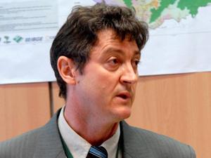 O novo presidente do ICMBio,  Roberto Vizentin, durante reunião no Ministério do Meio Ambiente em 2009 (Foto: Elza Fiúza/ABr)