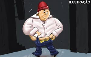 Homem foi pedir emprego usando as roupas que havia roubado de dono de casa. (Foto: Ilustração: Arte/G1)
