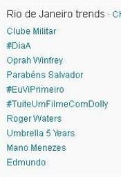 Trending Topics no Rio às 17h50 (Foto: Reprodução)