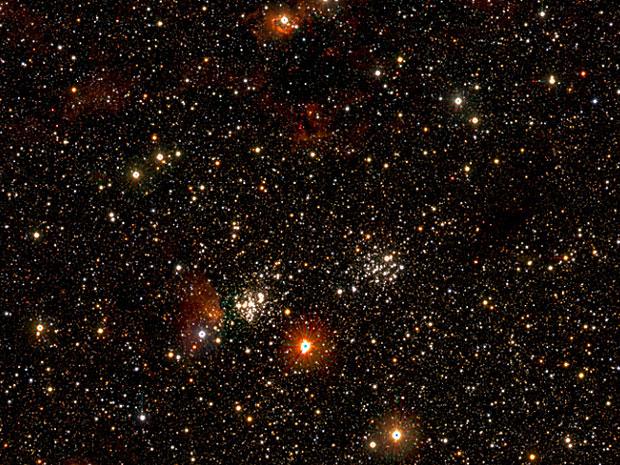 Parte da foto com um bilhão de estrelas da Via Láctea  (Foto: Mike Read (WFAU), UKIDSS/GPS and VVV)