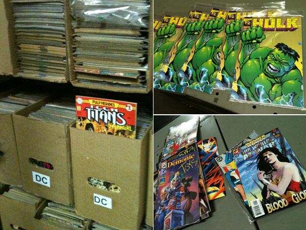 Gibis que formam o lote de mais de 250 mil revistas vendidas pela editora Devir (Foto: Daniel Buarque/G1)