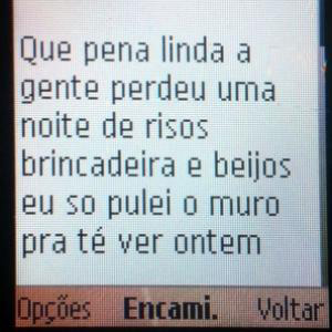 Mensagem celular (Foto: Brigada Militar/Divulgação)