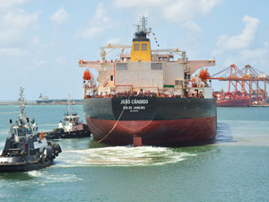 João Cândido é a primeira embarcação produzida pelo Estaleiro Atlântico Sul  (Foto: Divulgação )