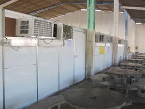 Estado montou dez tendas climatizadas (Foto: Vanessa Fajardo/ G1)