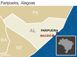 mapa paripueira (Foto: Arte/G1)