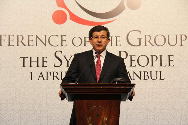 Ministro das relações exteriores da Turquia, Ahmet Davutoglu (Foto: Germano Assad/G1)