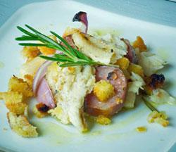 Receita foge da combinação convencional de peixe com couve e batata (Foto: Flavio Moraes/G1)