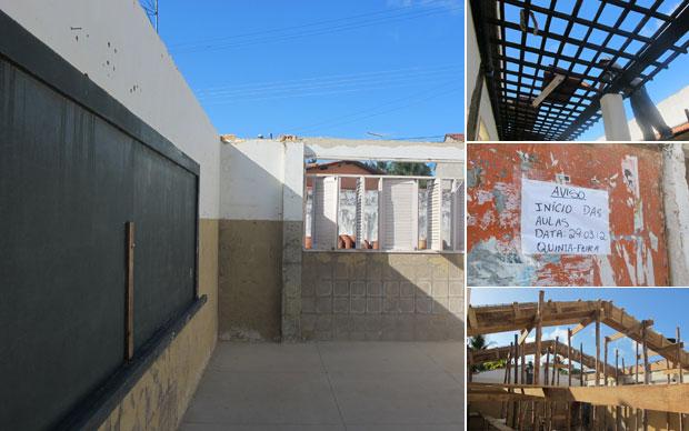 Após o desabamento do teto, escola de Paripueiras passa por reforma geral  (Foto: Vanessa Fajardo/G1)