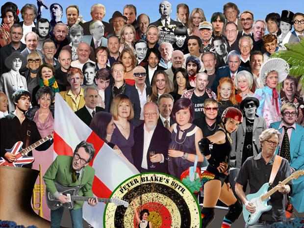 Capa do disco 'Sgt Pepper's lonely hearts club band', dos Beatles, recriada pelo artista plástico Peter Blake (Foto: Peter Blake/BBC)