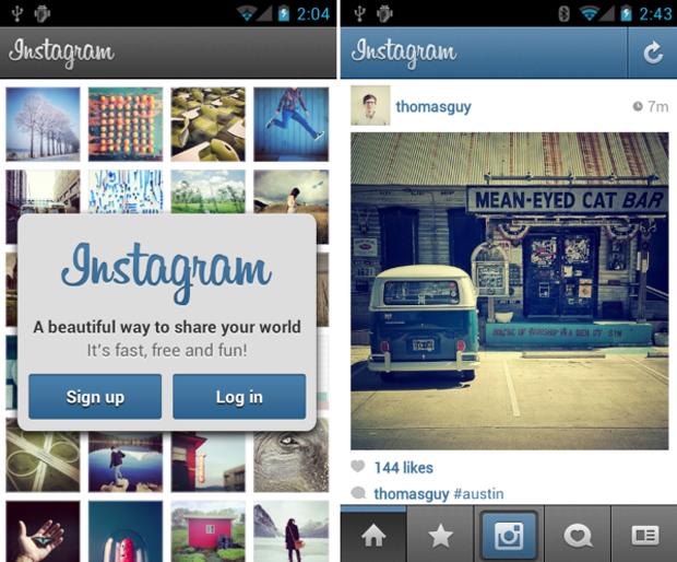Telas da versão do Instagram para o Android (Foto: Divulgação)