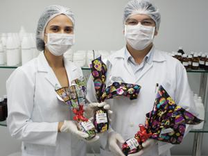 Paraíba tem ovo de Páscoa desenvolvido em laboratório (Foto: Inaê Teles/G1)