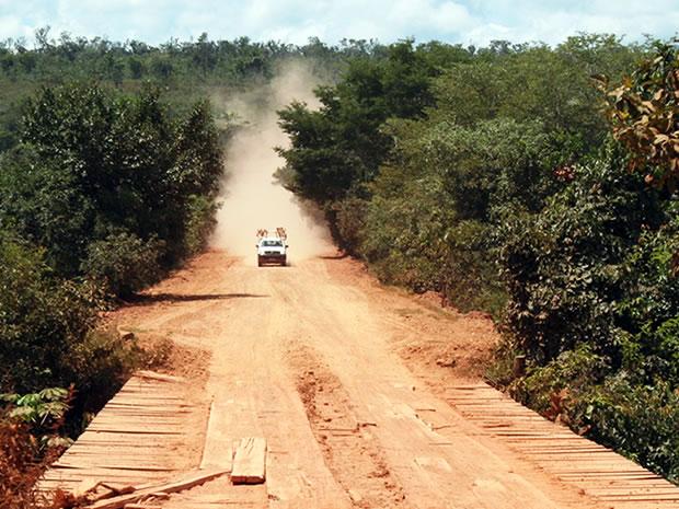 Rodovia MT-130 (Foto: Leandro J. Nascimento/G1)