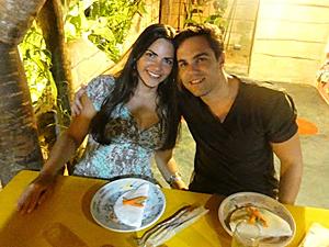 Casal almoçando (Foto: Arquivo pessoal)