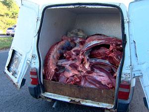 Carne clandestina (Foto: Imagem/TV Bahia)