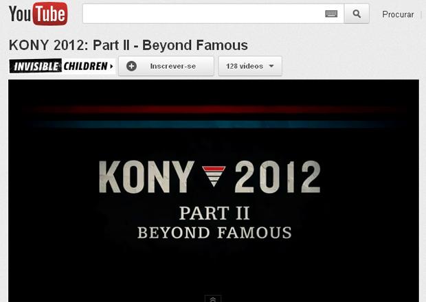 A sequência do vídeo Kony 2012 postado pela ONG Invisible Children no Youtube (Foto: Reprodução)