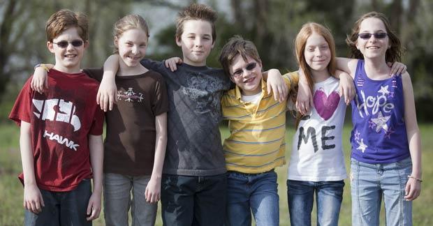 Ethan, Melissa, Grant, Sean, Jaycie e Danielle (Foto: AP)