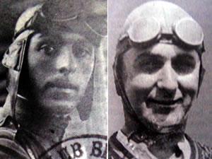 aviadores do primeiro pouso em Cuiabá (Foto: Arquivo TVCA)