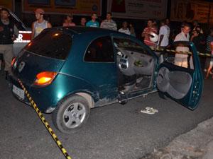 Homem é morto no Centro de João Pessoa  (Foto: Walter Paparazzo/G1)