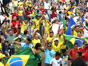 Cuiabá comemora anúncio da Copa (Foto: Arquivo TVCA)