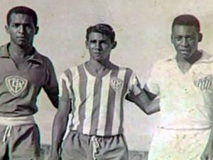 Pelé em Cuiabá (Foto: Reprodução/TVCA)
