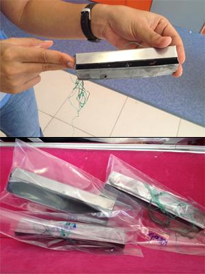 Compatimento falso retia os envelopes com o dinheiro dos clientes (Foto: Walter Paparazzo/G1)
